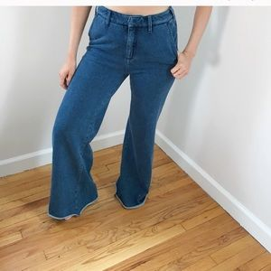 Anthropologie soft denim jeans flare